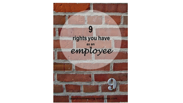 9 rights you have as an employee